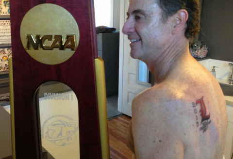 Rick Pitino Is A Man of His Word, Gets Tattoo
